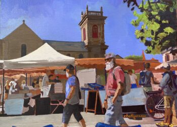 Scène de marché à St Gildas